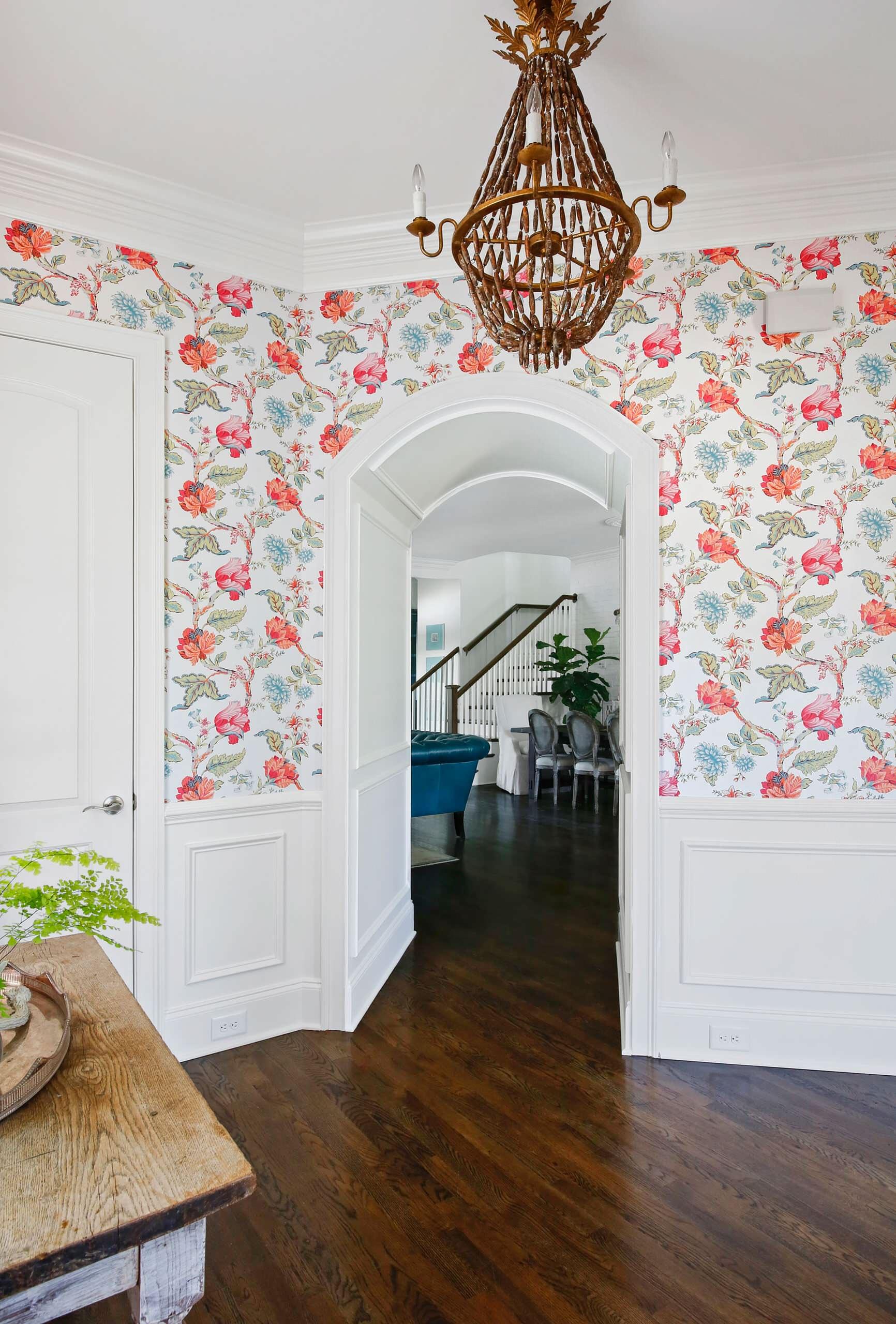 Floral Wallpaper Foyer