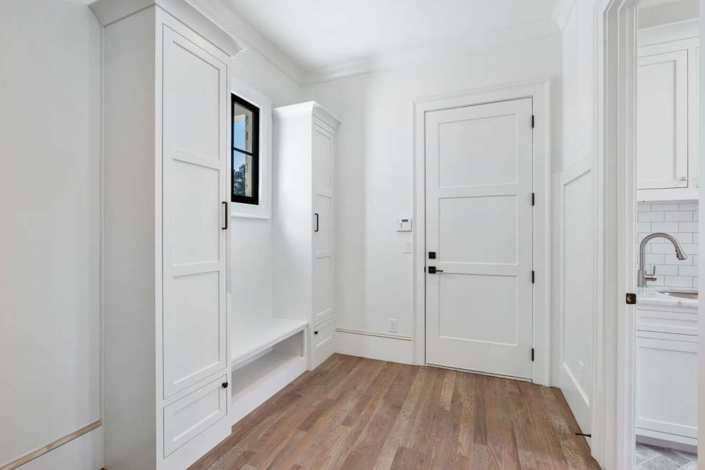 Inspiration for a contemporary entryway remodel in Atlanta