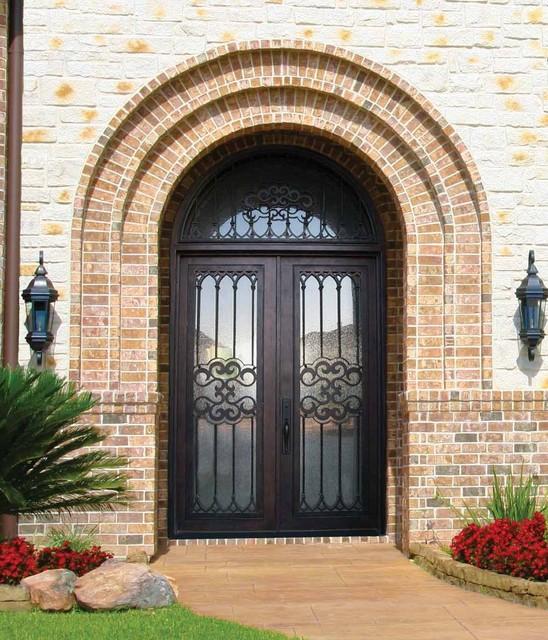 Mediterranean Style Front Doors: Forged Iron Doors