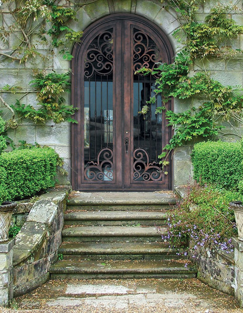 Forged Iron Doors : Forged iron doors mediterranean entry tampa by us