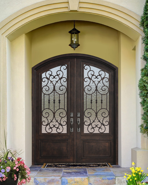 Mediterranean Style Entry Doors: Forged Iron Doors
