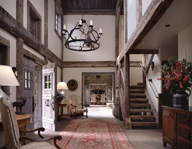 Houzz Rustic Foyer : Four deer ranch rustic entry other metro by osm