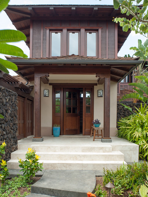 Four Seasons Vacation Home Eclectic Entry Hawaii
