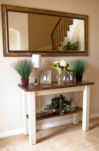 Houzz Rustic Foyer : Foyer and entry way tables transitional dallas