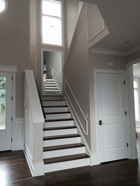 Foyer Interior Questions : Foyer interior stairs contemporary entry new york