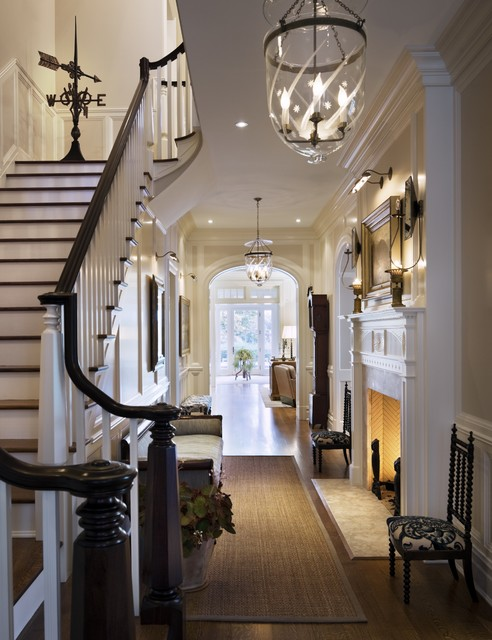 Foyer Chandelier Jr : Foyer and stair traditional entry by ralph r mackin