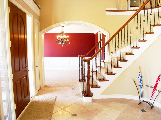 Traditional Foyer Photos : Foyer stairs traditional entry detroit by