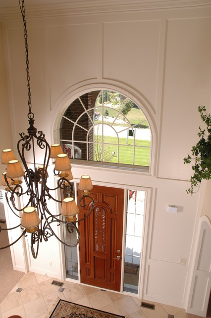 Foyer & Stairs traditional-entry