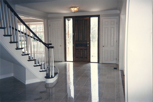 Traditional Foyer Questions : Foyer stairs traditional entry detroit by