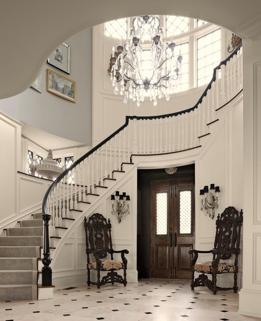 New Home Interior Design Traditional Hallway: By Anthony Como