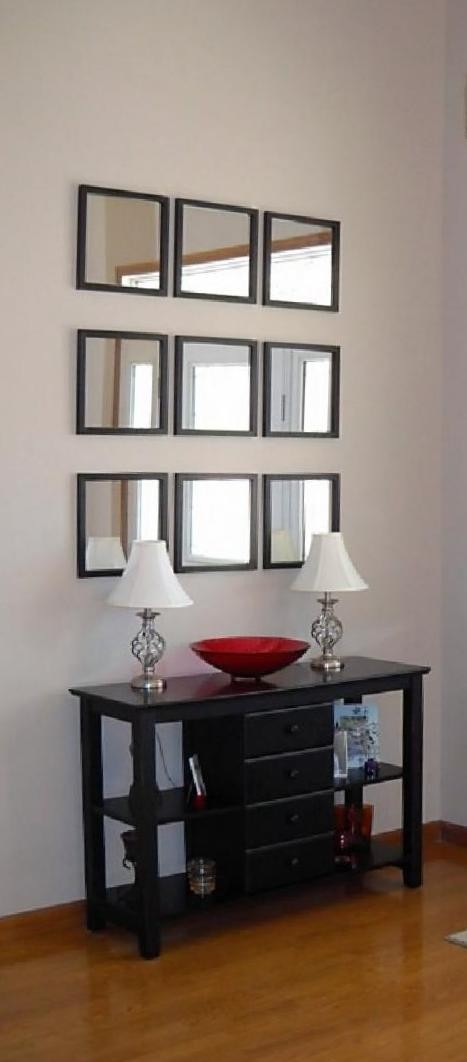 Decorating Mirrors on a Wall