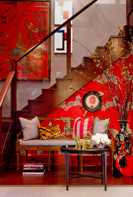 Foyer: Bryant Keller Interiors eclectic entry