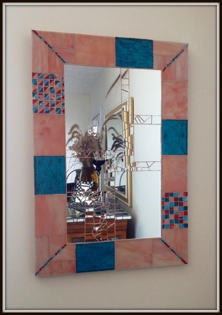 Foyer Coastal Style Mirror - eclectic - entry - other metro - by