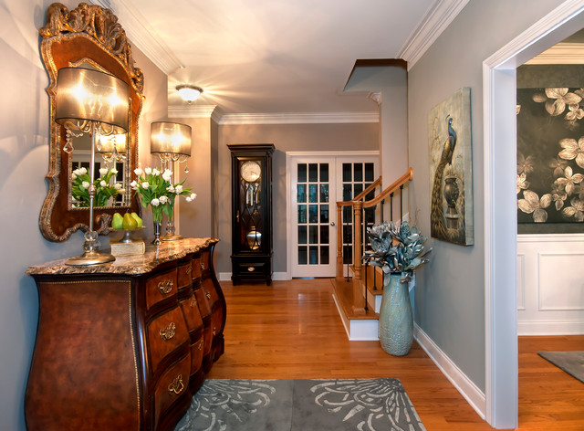 Foyer design transitional entry other metro by for Transitional foyer ideas