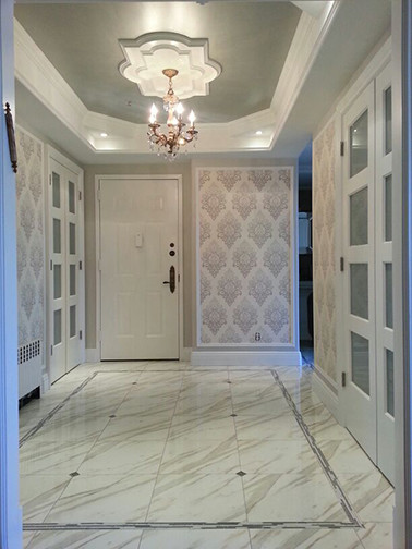 Foyer design transitional entry new york by in for Transitional foyer ideas