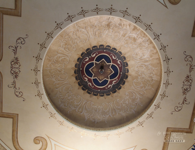 Foyer Dome Ceiling Mediterranean Entry Oklahoma City