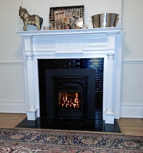 Entry Foyer With Fireplace : Foyer fireplacewith original period mantel traditional
