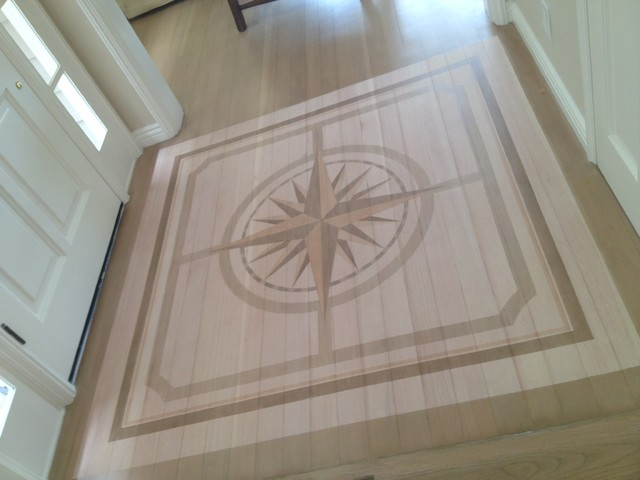 Foyer Floor Compass Rose Design Traditional Entry