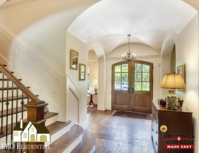 Foyer Groin Vault Ceiling Traditional Entry Dallas