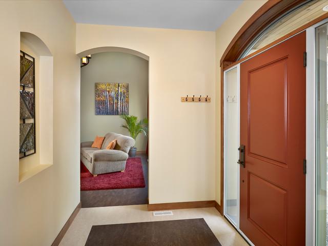 Traditional Foyer Questions : Foyer traditional entry edmonton by habitat studio