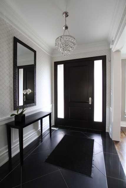 Foyer contemporary entry toronto by jodie rosen design for Modern foyer design