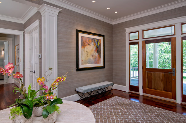 Foyer Transitional Entry Dc Metro By L S Design