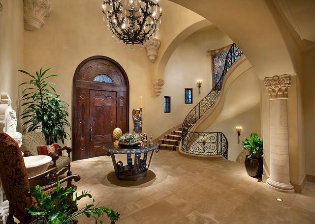 Foyer Of La Grande Maison Mediterranean Entry