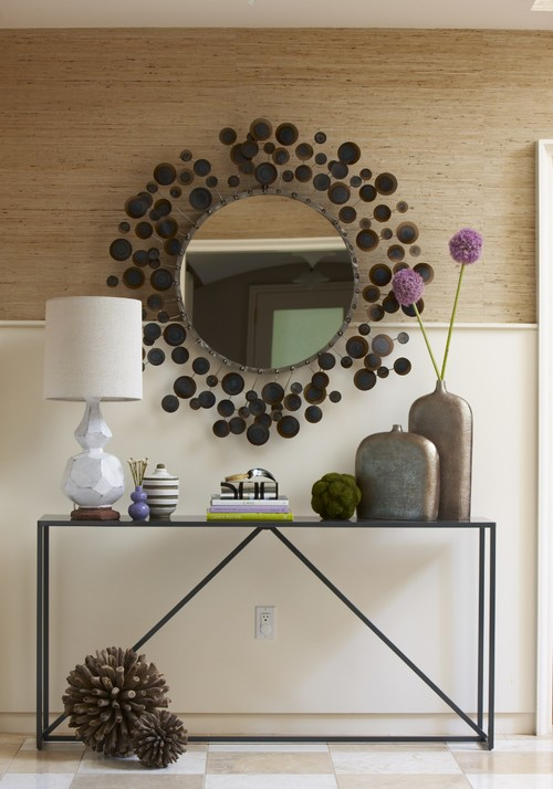 A beautiful console with mirror