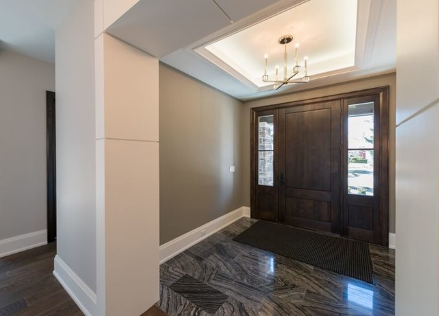 Foyer transitional entry toronto by robinson for Transitional foyer ideas