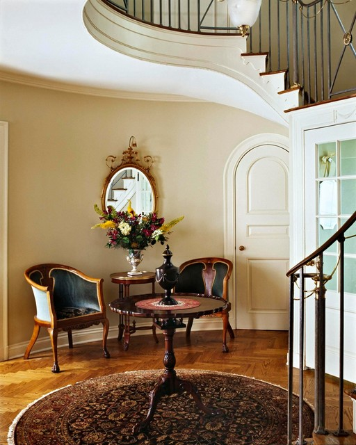 New Home Interior Design Traditional Hallway: By Ruth Richards
