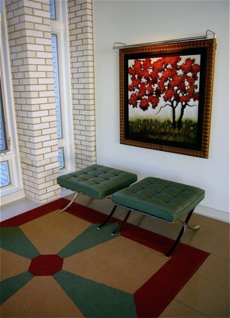 Contemporary Foyer Rugs : Foyer s inset custom rug contemporary entry other