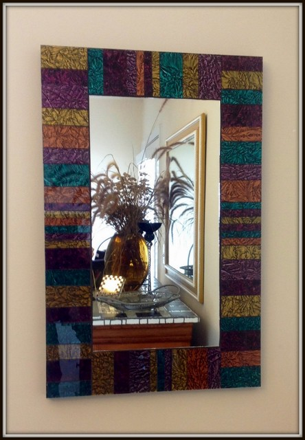 Foyer Van Gogh Stained Glass Mirror Eclectic Entrance Other By Mosaic Mirrors And More Houzz Uk