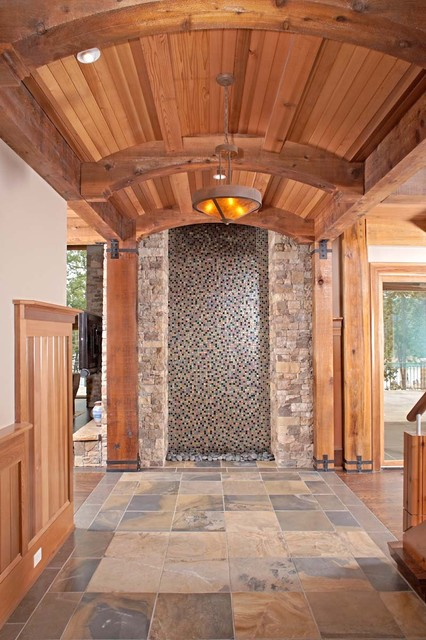 Foyer Water Feature traditional-entry