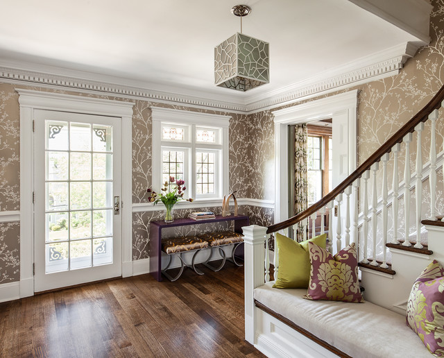 Foyers hallways mudrooms transitional entry new for Transitional foyer ideas