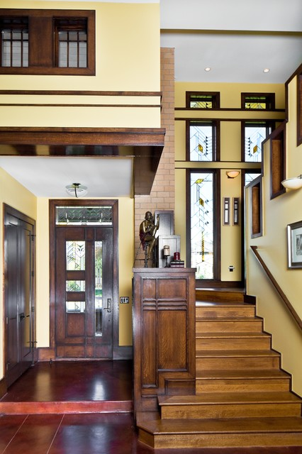 Frank Lloyd Wright Inspired House - Craftsman - Entry - Denver - by ...