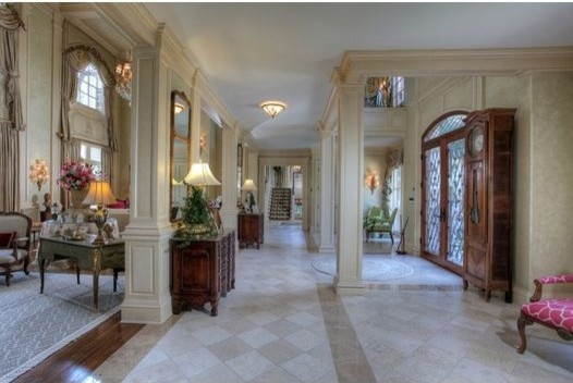 French Chateau traditional-entry