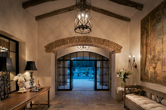 French Country Foyer Chandelier : French country estate mediterranean entry phoenix