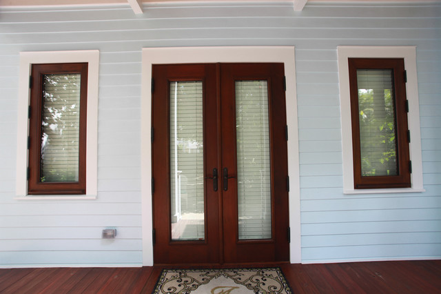 French Doors mediterranean-entry