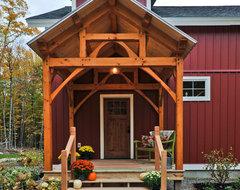 Fresh take on farmhouse design farmhouse-porch