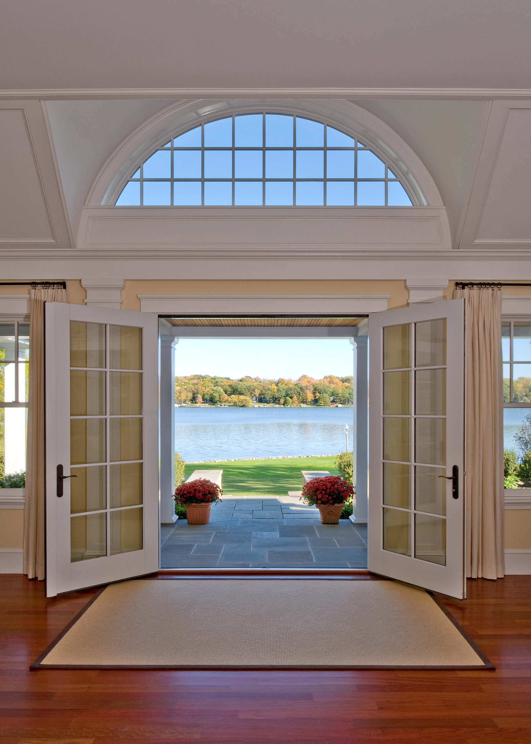 French Door Window Treatment Houzz