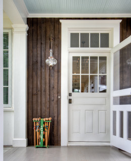 From Pre Fab To Farmhouse Farmhouse Entry Atlanta