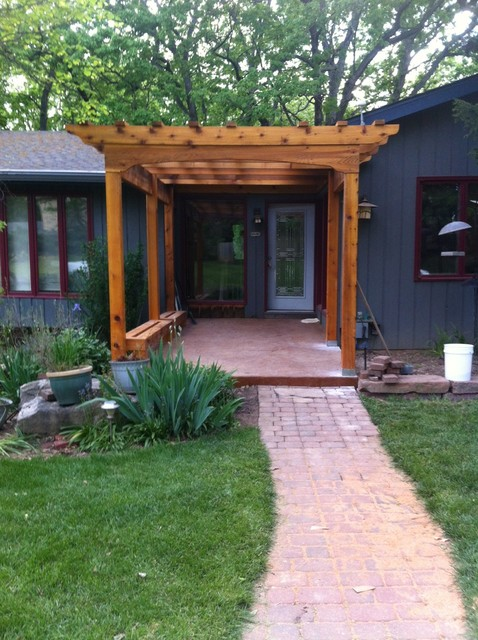 Front Arbor Made From Cedar Traditional Entry St