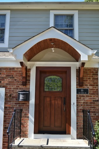 Bon Front Door And Portico Installation Traditional Entry