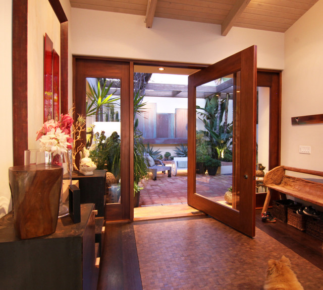 Front Door from Interior View modern entry