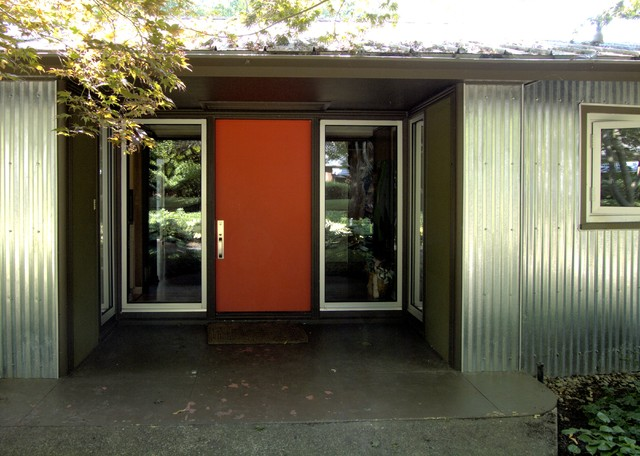 Strange Front Door Midcentury Entry Portland By John Prindle Largest Home Design Picture Inspirations Pitcheantrous