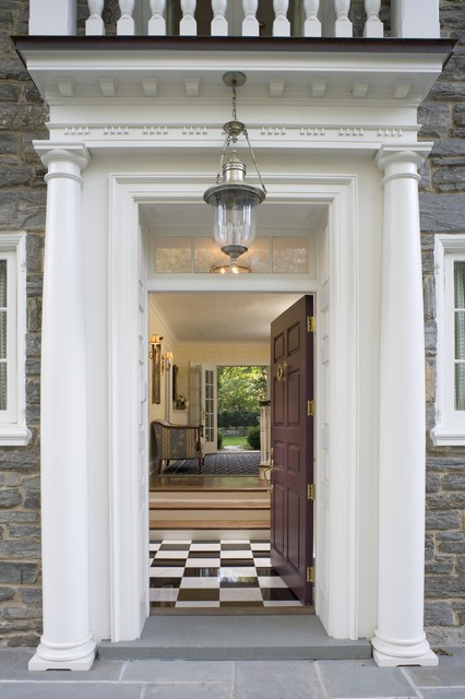 Front Door Portico Traditional Entry