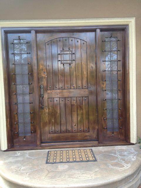 Front Door Refinish mediterranean-entry