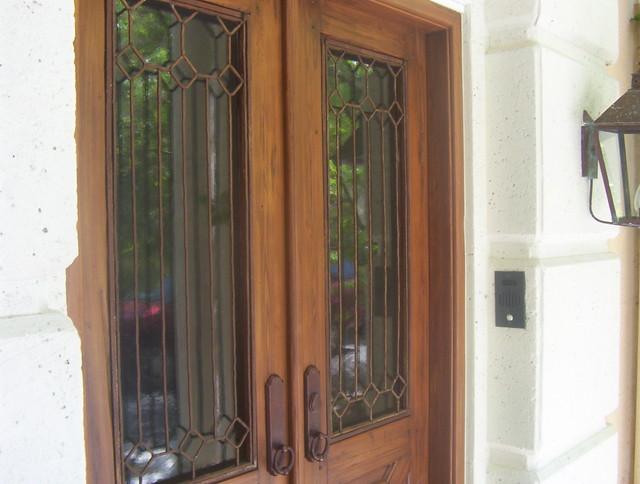 front door window inlays