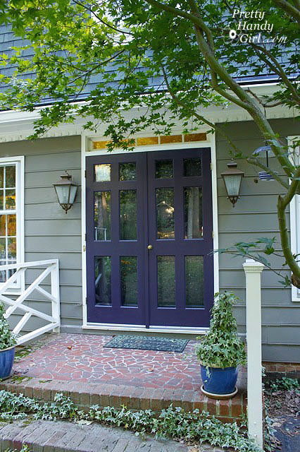 Front Doors of Dutch Colonial eclectic exterior