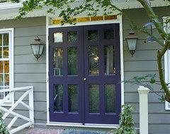 Front Doors of Dutch Colonial eclectic-exterior